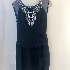 Nanette Lepore Black Dress w/ Gems